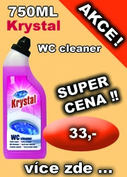 KRYSTAL na WC cleaner růžový,750ml
