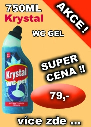 KRYSTAL WC gel modrý,750 ml