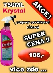 KRYSTAL olejový osvěžovač růžový 750 ml